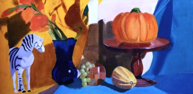 Advanced: large format, student selected proportion oil still life (#2)