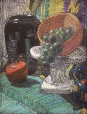 Intermediate: color theory applied to pastel still life (#1)