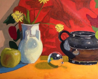 Intermediate:  building on color theory in oil: Tonal Underpainting / glazing (#2)