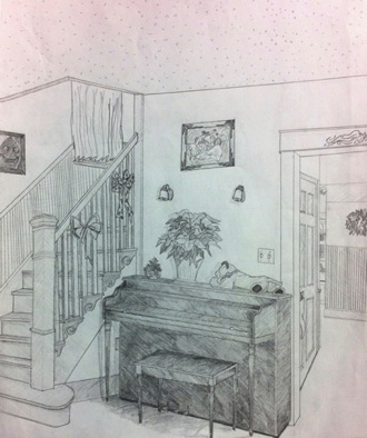 Intermediate: apply learning to at-home perspective drawing from life (# 2)