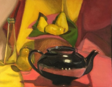 Intermediate:  building on color theory in oil: Tonal Underpainting / glazing (#3)