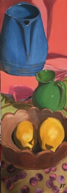 Advanced: large format, student selected proportion oil still life (#3)