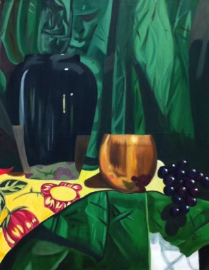 Advanced: large format, student selected proportion oil still life (#1)